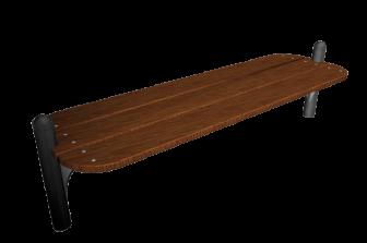 Banc air repos inox assise bois option arceaux de for Banc inox design