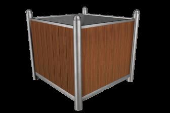 mobilier urbain inox bac int rieur acier pieds r glables. Black Bedroom Furniture Sets. Home Design Ideas