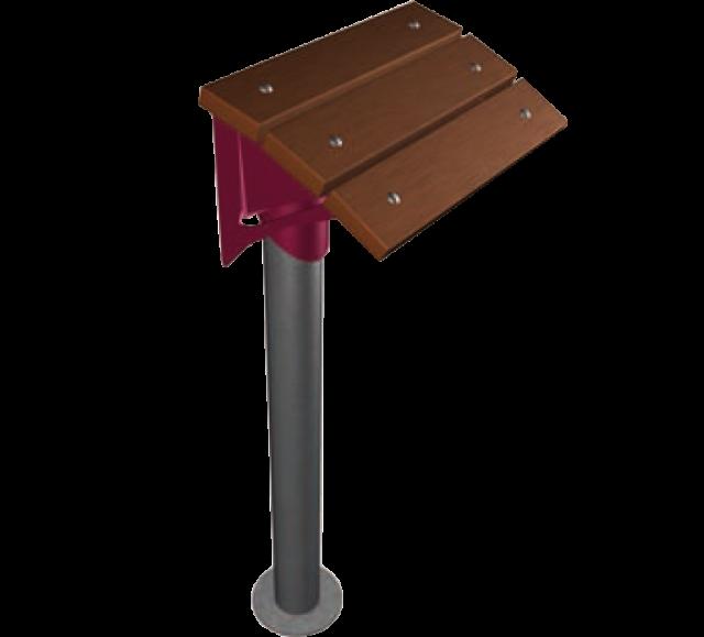 assis debout inox acier thermolaqu assise en bois. Black Bedroom Furniture Sets. Home Design Ideas