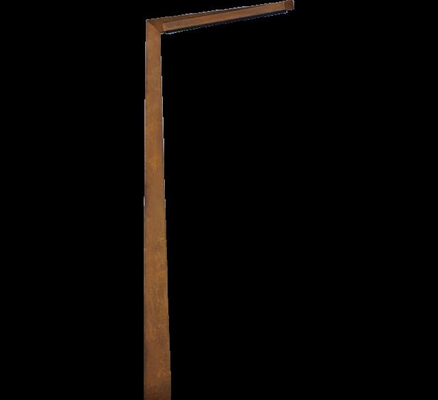 mobilier urbain inox candelabre acier inox monobloc corten