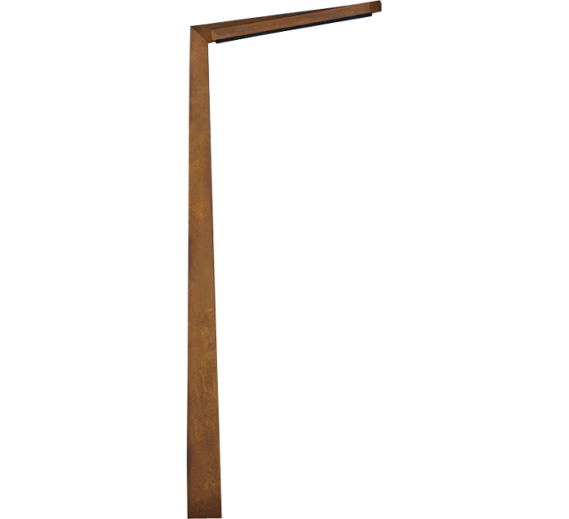 Mobilier urbain inox candelabre acier inox monobloc corten for Candelabre exterieur