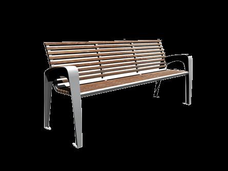 Banc ext rieur ville assise bois support m tal design - Banc exterieur design ...