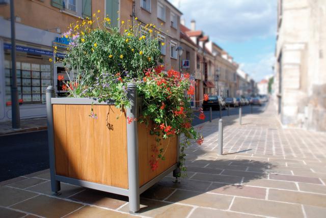 mobilier urbain inox bac int rieur acier pieds r glables en hauteur jumo design espaces. Black Bedroom Furniture Sets. Home Design Ideas